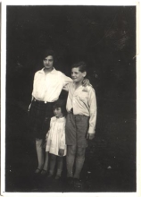 Lea Merenyi, her younger brother Istvan and younger sister Zsuzsa