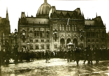 The building of the Hungarian parliament