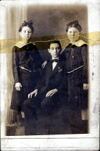 Imre Hamos with his sisters
