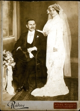 Wedding photo of Ferenc and Szeren Oblath