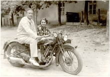 Miklos Molnar and his wife on their honeymoon