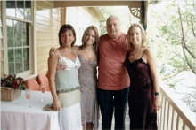 Thomas Molnar with his daughter and granddaughters