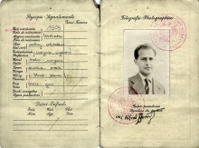 Passport of Alfred Borowicz