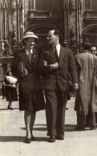 Alfred and Janina Borowicz in Milan