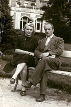 Salo Fiszgrund with his second wife, Gusta-Maria Fiszgrund