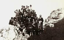 Apolonia Starzec and her class on a school trip