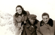 Apolonia Starzec with her husband Adolf Starzec and a friend in the mountains