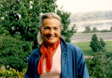 Danuta Mniewska at her house in Warsaw in 1990s