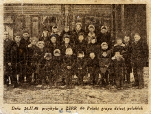 Estera Migdalska among the Polish children repatriated from the USSR