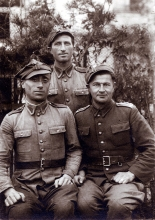 Chaim Poltorak and his friends
