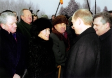 Janina Duda at a meeting with President Putin
