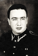 Leon Glazer as an officer of the Polish People's Army