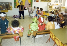 Paulina Pankowska in a Purim Spiel at her kindergarten