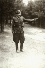Mieczyslaw Najman in the Polish 2nd Infantry Division training camp