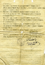 Certificate confirming the place and date of death of Oskar Unger's family members