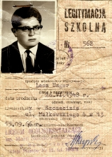 Leon Unger's student card
