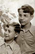 Adam Silberring with his brother Ludwik