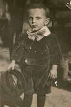 Alexander Bachner at the age of three