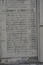 Mose A. Kalef listed on the Monument of Fallen Soldiers in the Belgrade cemetery
