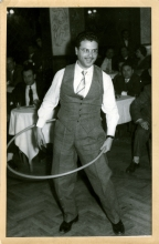 Lazar Abuaf Playing the Hoola Hoop