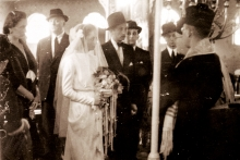 Judita and Pavel Sendrei's wedding in the Subotica synagogue
