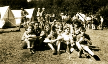 Rahela Perisic camping with Zionist youth in Slovenia