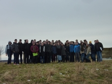 Border Jumping Project Part 1, 10.02.2015- secondary schools from Graz and Szombathely visit the Holocaust memorial at Rechnitz, Austria, where 200 Hungarian Jews were massacred on 24th March 1945
